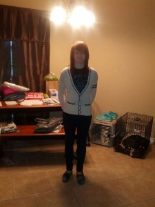 First Day of Seventh Grade - the eyes closed version